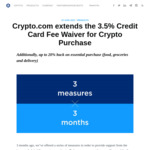 10% Cashback at Woolworths/ ALDI/ UberEATS/ Deliveroo/ McDonald's/ Costco etc Extended for 3 More Months @ Crypto.com