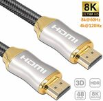 Reayou 3m/10ft Premium 8K HDMI Cable $23.76 + Delivery ($0 with Prime/ $39 Spend) @ Sparks Au via Amazon