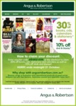 Angus & Robertson Get 30% off Books, CDs and Calendars PLUS 10% off DVD and Blu-Ray