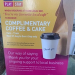 [VIC] Free Coffee & Cake @ Participating Cafes on Toorak Rd, South Yarra