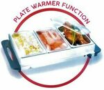 Electric Plate / Food Warmer Buffet Server 3 Tray Bain Marie Stainless Steel 1.5L $53.99, 2.5L $71.99 Delivered @ Repo Guys eBay