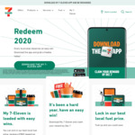 Free Reward for Registering Account @ My 7-Eleven App