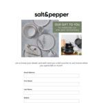 [VIC] $20 Voucher at Selected Salt&Pepper Stores ($40 Min Spend)