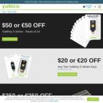 Yubico Yubikey - US$20 off: Any Two Yubikey 5 Series Keys