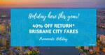 [QLD] 40% off Return Brisbane City Fares to Brisbane Airport @ Airtrain.com.au
