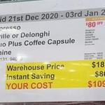 Nespresso Breville or DeLonghi Vertuo Plus Coffee Capsule Machine $109.99 @ Costco (Membership Required)