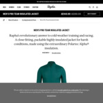Rapha Mens Pro Team Insulated Cycling Jacket (Green or Brown) $140 (was $280) + Delivery ($0 with $150 Spend) @ Rapha