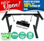 [eBay Plus] Standing Desk Frame Only, Motorized Height Adjustable Sit Stand $239.99 Shipped @ T&R Sports via eBay