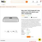 Apple Mac Mini 2020 with M1 Chip, 512GB SSD & 8GB RAM $1199 (Was $1299) Delivered @ 365x.com.au