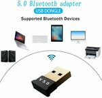 Bluetooth 5.0 USB Adapter US$2 (~A$2.59) Delivered @ Evanting Electron Store AliExpress