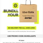 [Bundll] Free Delivery with $20 Order during June @ Uber Eats (App Required)