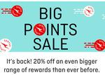 20% Off Points Sale (Rewards Stores, Wines, Qantas Hotels, Luxury Escapes, Journey Beyond Rail Expeditions) @ Qantas Store