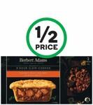 Herbert Adams Pies $3.90, Red Island EVOO $9, SunRice Med Grain10kg $16, KB's Prawn Gyoza $13.50, Whittaker's Choc $4 @ Woolies