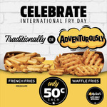 [QLD, NSW, SA, VIC] $0.50 Waffle or French Fries via MyCarl's App @ Carl's Jr