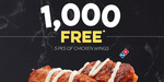 1000 Free Chicken Wing 5 Packs (Starts 29/7) @ Domino's (Facebook Required)