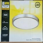 HPM AURA Ceiling LED Oyster Light Dimmable 18W 1550 Lumens 3000K Warm White $89 Delivered @ Eeet5p eBay