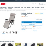 Deluxe Recliner Lounge $25 in-Store / C&C /+ Delivery ($0 with $65 Order) @ Kmart