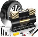 Wolfbox 12V Double Cylinder Portable Air Compressor $39.99 Delivered @ Wolfbox via Amazon AU