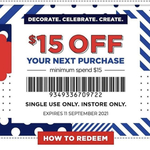 $15 off (Min $15 Spend) in-Store @ Spotlight (VIP Members)