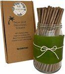 Organic Coconut Leaf Straws (Disposable) 100pk (21cm) $13.95 + Delivery ($0 with Prime/ $39 Spend) @ CocoDelish via Amazon AU