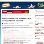 Free Courseware for Professors and Instructors from Microsoft