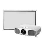 Epson EH-TW5900 FULL HD 3D LCD Home Theatre Projector with 92 Inch Manual 16.9 Screen $1449 Pick up