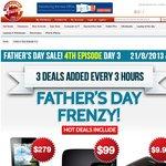 ShoppingExpress Father's Day Frenzy 15 Items eg 8GB Laptop RAM $65, 3TB WD $118, D-Link DIR-600L $10