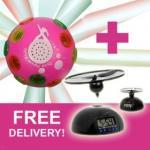 Disco Shower Radio $24.95 + Bonus FREE Flying Alarm clock - FREE Postage