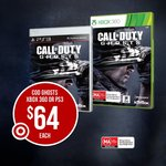 Call of Duty Ghost $64 @ Target or $54 after The $10 off $50 Coupon