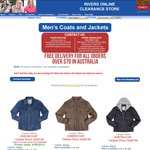Rivers Online Clearance - Men's Jackets from $15 + Women's Knitwear from $15 + Boots from $34.95