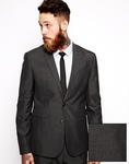 Up to 70% off ASOS Sale Charcoal Slim Fit Suit Jacket @ £18 Delivered