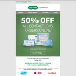 50% off Contact Lenses Online + Shipping @ Specsavers