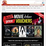 Event Cinema Adult GA Movie Voucher $10 or Gold Class $20 FREE Shipping @ Shopping Express