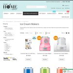 Cuisinart Ice Cream Maker Buy 1 Get 1 Free 1.5l & 2L ($119 to $169 + Shipping) @ Your Home Depot