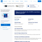 Low Rate AmEx Credit Card with $0 Annual Fee