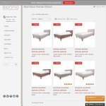 Sonno Bed Frame Winter Sale, All Fabric Bed Frames Now on Sale from $449.00