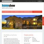 (Free 2x Tickets) Melbourne Home Show, Aug 18-21 (Normally $36)
