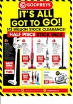 Half Price and above on Stick Vacs - Hoover Ultralight Handstick $149, Hoovey Linx Cordless $249 (Was $599) + More @ Godfreys