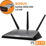 NetGear Nighthawk D7000 Dual Band Wi-Fi Modem Router + Bonus SanDisk 64GB USB 3.0 - $209.60 Delivered @ PC Byte eBay