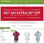 20% Extra Reduction on Shirts and Shorts @ Kathmandu - Online Only