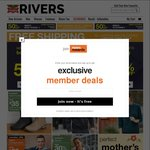 Rivers Free Shipping Store Wide (No. Min Spend)