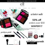 e.l.f. cosmetics 50% Off Everything with $50 Spend, Free Shipping Min Order $60