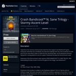 Free DLC Level Stormy Ascent for Crash Bandicoot N. Sane Trilogy PS4