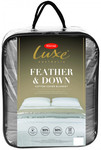Tontine Luxe Feather & down Blanket $75 (70% off) + $12.50 Shipping - Grey and Taupe Available