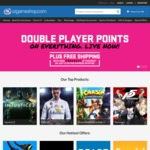 Double Player Points and Free Shipping @ OzGameShop