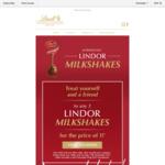 Buy 1, Get 1 Free Lindor Milkshakes @ Lindt