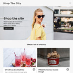 Free Cookie Dough, Beer, Sausage, Cocktails, Free Breaky w/ $50 Spend @ Melb Central, Free Parking @ QV (6/12) [ShopTheCity MEL]
