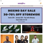 Boxing Day Sale - 30-70% off, Nike & Adidas Boots, Premier League Jerseys, Free Delivery $150+, Afterpay @ Football Galaxy