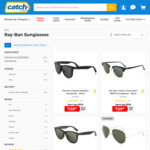 Ray-Ban Sunglasses - up to 40% off RRP @ Catch