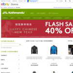 Kathmandu Chinese New Year Flash Sale: 40% off All Kathmandu Branded Gear via eBay